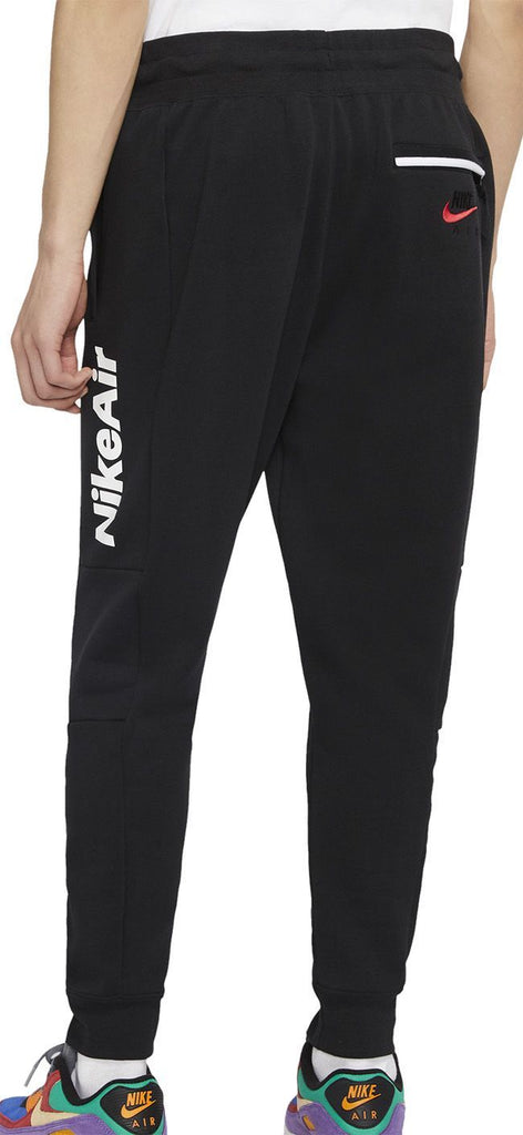 Nike Mens Sportswear Air Fleece Jog Pant Black White