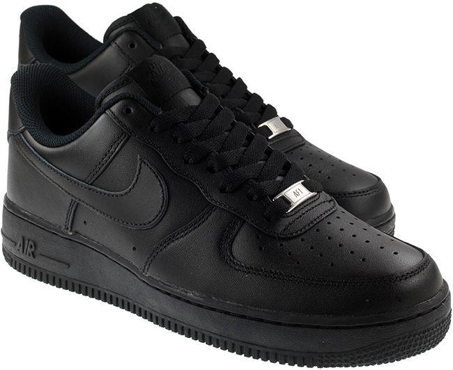 Nike Shoes Mens Air Force 1 07 Black Black Low