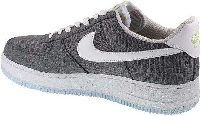Nike Shoes Mens Air Force 1 07 Iron Grey White Barely Volt