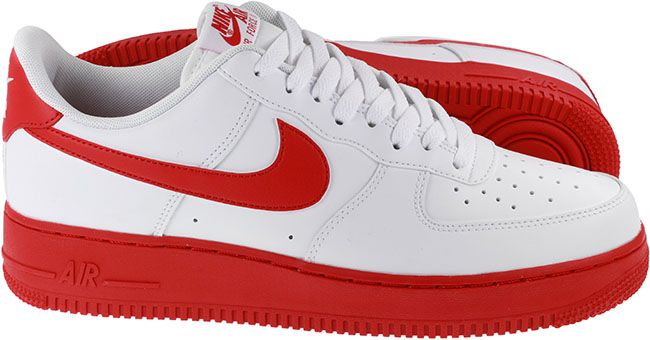 Nike Shoes Mens Air Force 1 07 White University Red Image