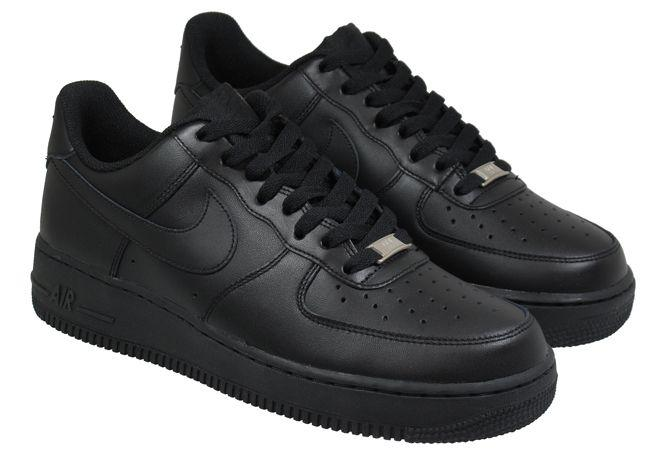 Nike Shoes Mens Air Force 1 Black Low