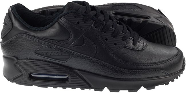 Nike Shoes Mens Air Max 90 Leather Black Black Image