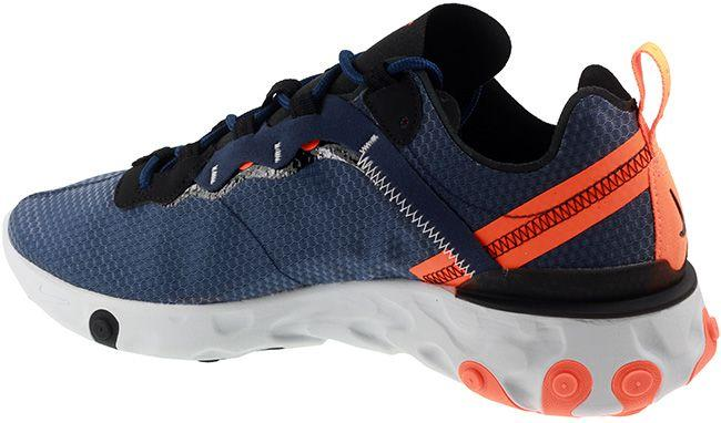 Nike Shoes Mens React Element 55 SE Midnight Navy Black Total Orange