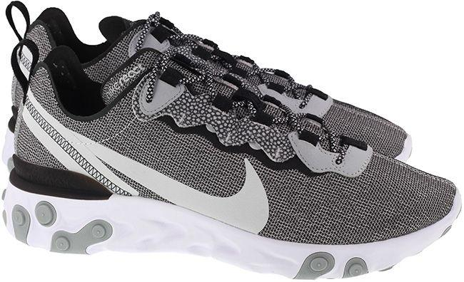 Nike Shoes Mens React Element 55 SE White Pure Platinum Wolf Grey Black
