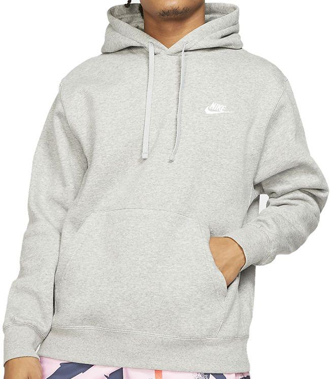 Nike Sportswear Mens Club Hoodie Dark Grey Heather