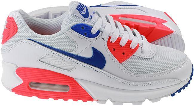 Nike Shoes Womens Air Max 90 White Racer Blue