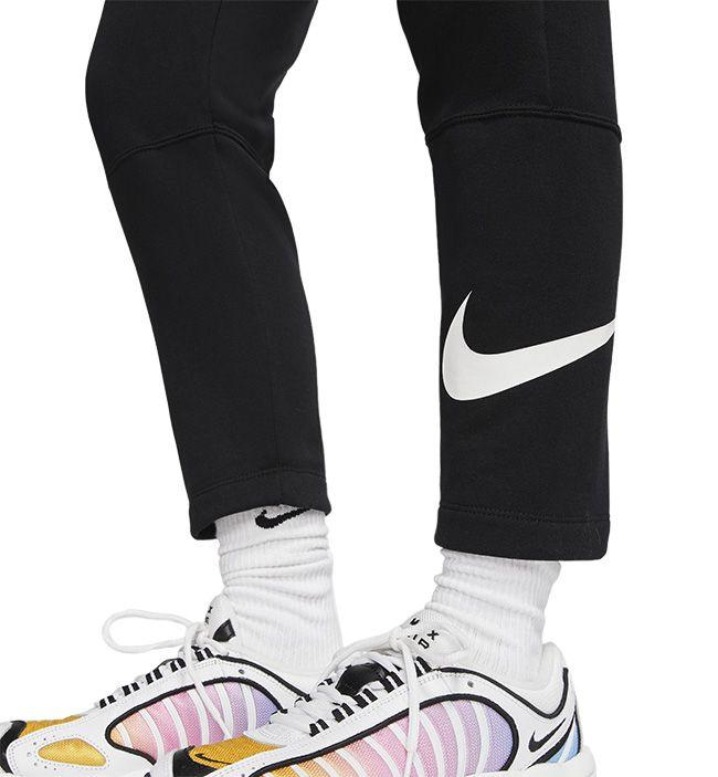 Nike Womens Sportswear Fleece Swoosh Pant Black White