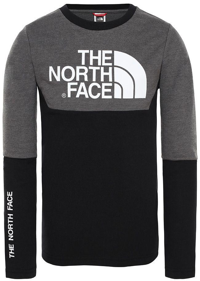The North Face Kids South Peak Long Sleeve T Shirt TNF Black Grey