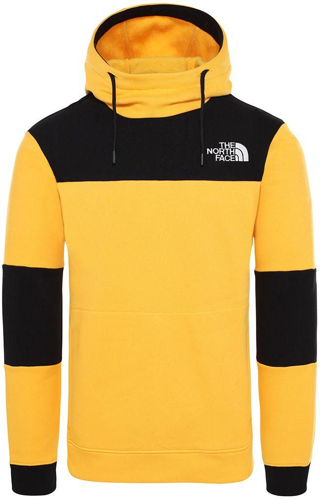 The North Face Mens Himalayan Hoodie Yellow Black