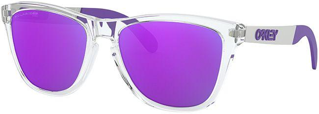 Oakley Mens Sunglasses Frogskins Mix Polished Clear Violet Iridium Polarized