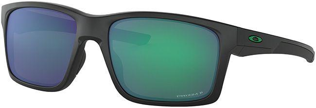 Oakley Mens Sunglasses Mainlink Matte Black Prizm Jade Polarized
