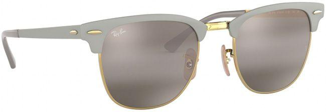 Ray-Ban Sunglasses Clubmaster Metal Gold On Top Matte Grey Bi Mirror Grey