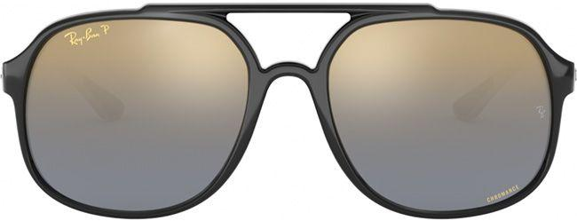 Ray-Ban Sunglasses RB4312CH Black Blue Mirrored Gold Gradient Polarised