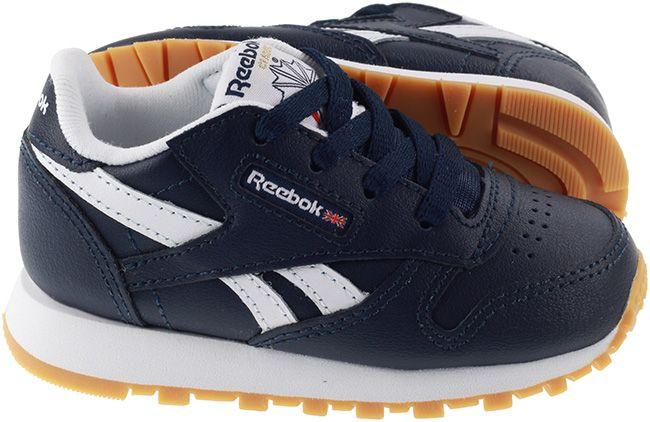Reebok Infants Classic Leather Collegiate Navy White Gum