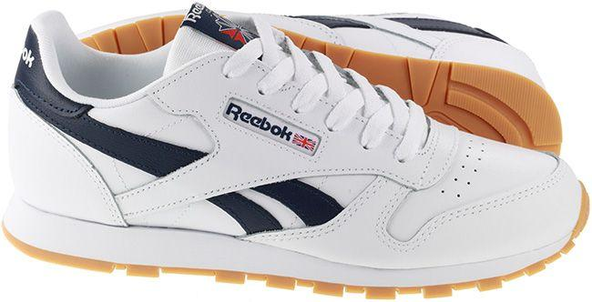 Reebok Junior Classic Leather White Collegiate Navy