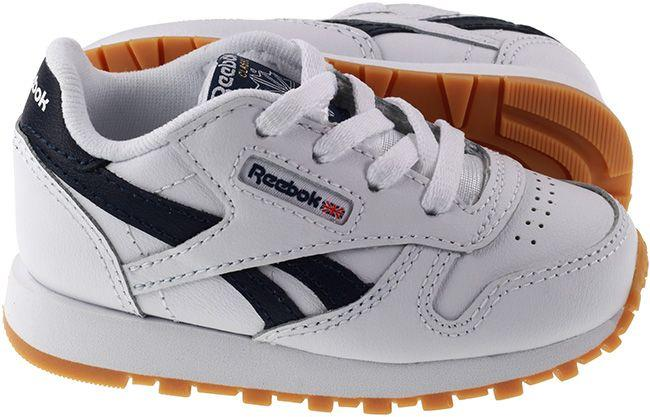 Reebok Trainers Infants Classic Leather White Collegiate Navy