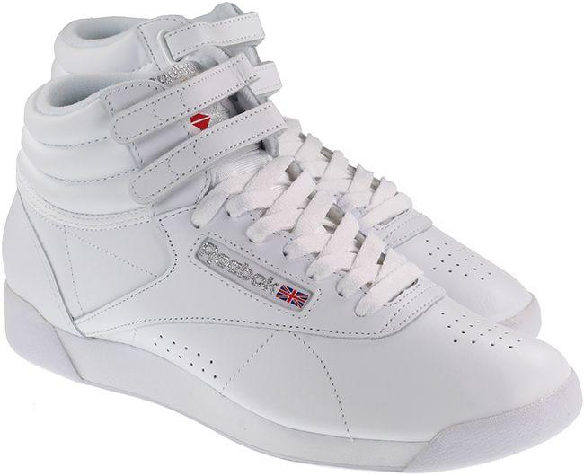 Reebok Trainers Womens Freestyle High White Silver