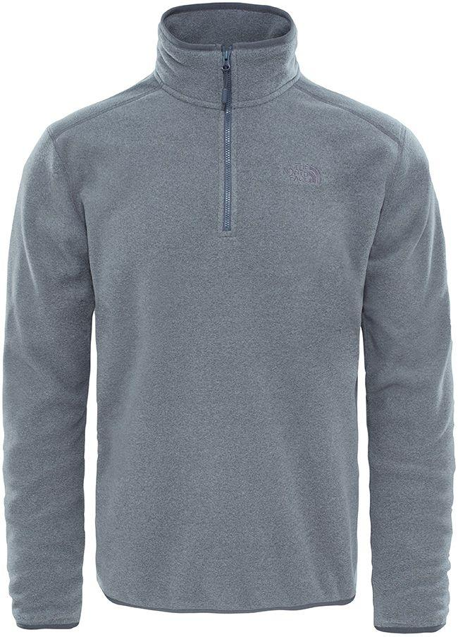 The North Face Mens 100 Glacier Full Zip Jacket Medium Grey Heather