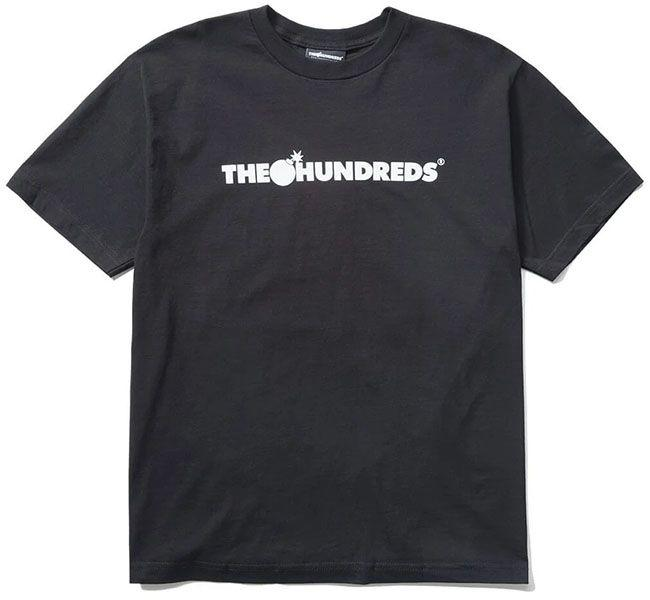 The Hundreds Forever Bar Logo T Shirt Black White