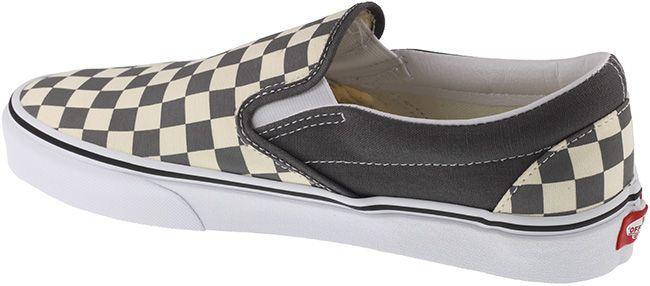 Vans Trainers Mens Classic Slip On Checkerboard Pewter White