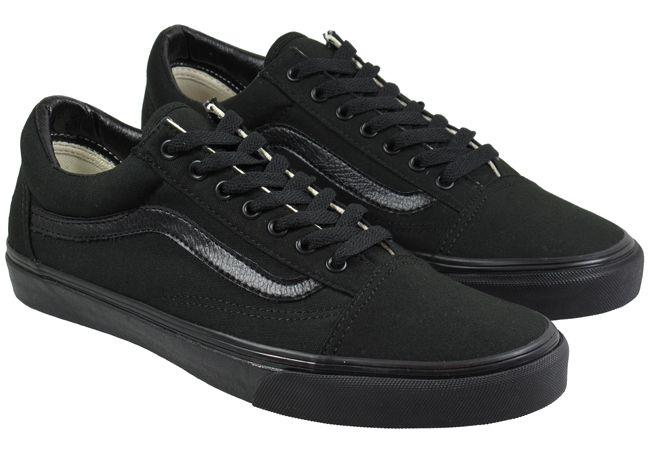 Vans Trainers Mens Old Skool Black Canvas