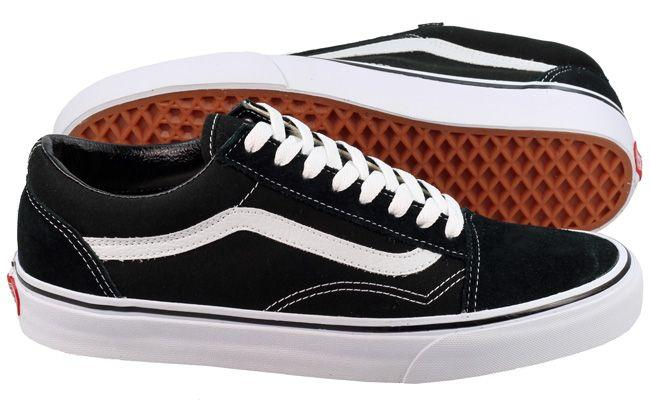 Vans Trainers Mens Old Skool Black White Canvas