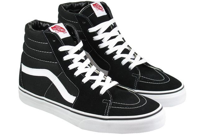 Vans Trainers Mens SK8 Hi Black White