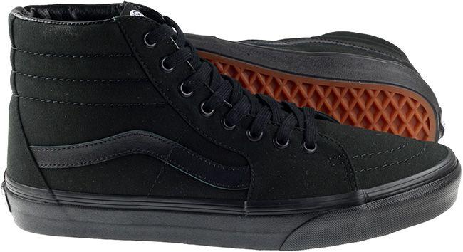 Vans Trainers Mens Sk8 High Canvas Black Black