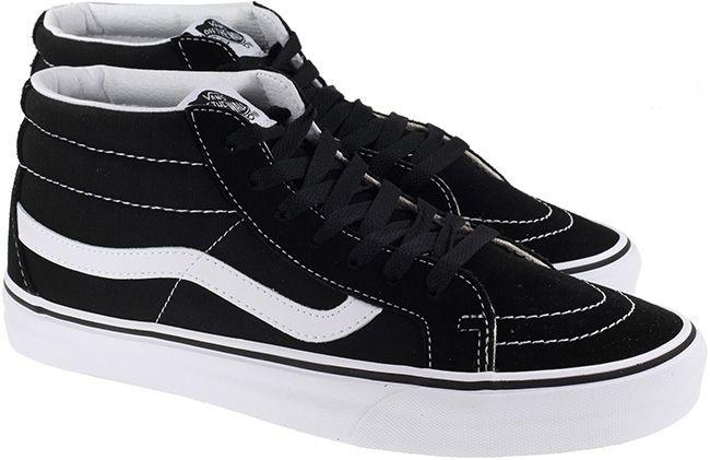 Vans Trainers Mens SK8 Mid Reissue Black White