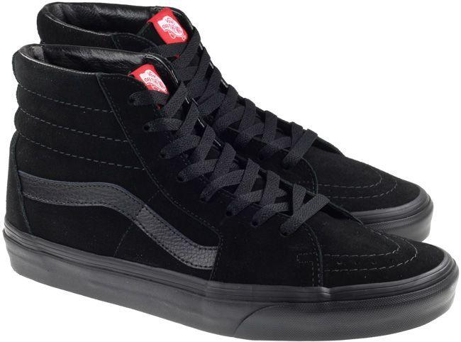 Vans Trainers Womens SK8 Hi Black Black