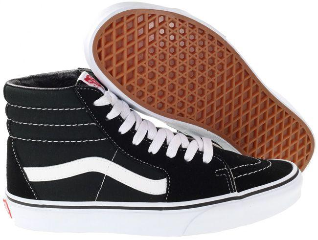 Vans Trainers Womens SK8 Hi Black White