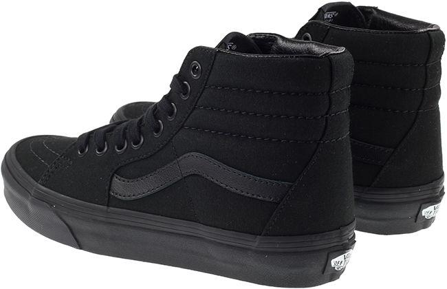 Vans Trainers Womens Sk8 Hi Canvas Black Black