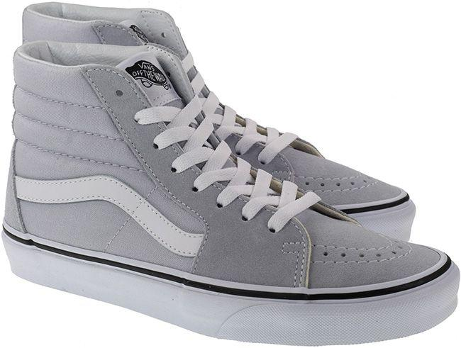 Vans Trainers Womens Sk8 Hi Dawn Grey White