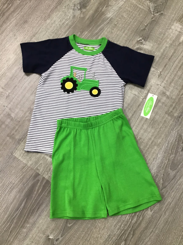 APPLIQUE TRACTOR BOY'S SHORT SET