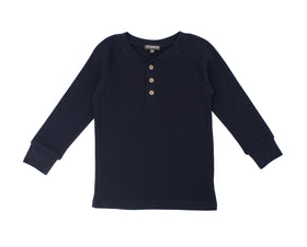 Thermal Raglan Top Navy