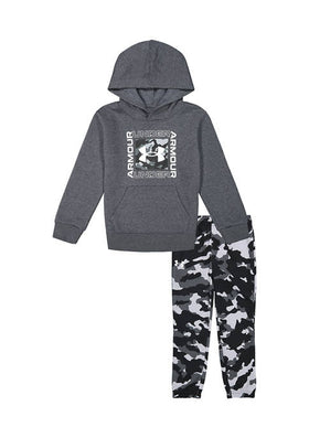 UA Fury Camo Hoodie Set Pitch Grey