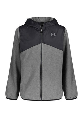 UA Heather North Rim Microfleece Pitch Grey