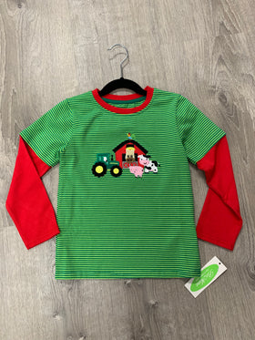 Farm Applique Boy's T Shirt