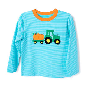 TRUCK WITH PUMPKIN APPLIQUE BOY'S T-SHIRT