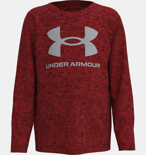 UA Big Symbol Twist LS Versa Red