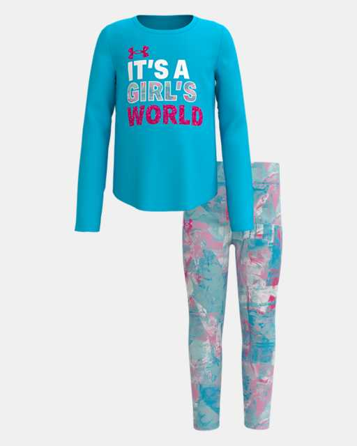UA Girl's World Set Equator Blue