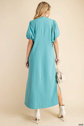 THE PUFF SLEEVE T-SHIRT DRESS
