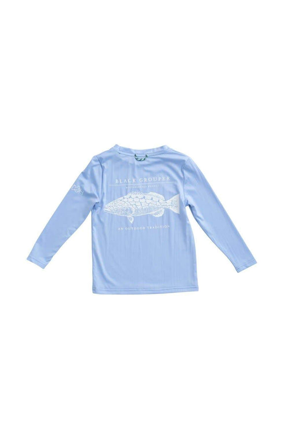 GROUPER PERFORMANCE T-SHIRT IN BABY BLUE JAY