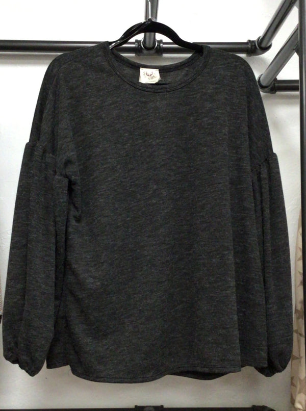 Solid LS Knit Top