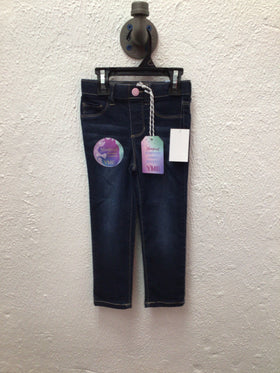 Pull On Skinny Dark Denim