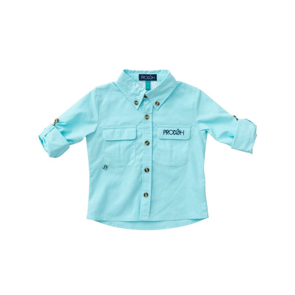 Solid Vented Back Fishing Shirt