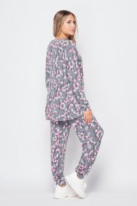 GREY/PINK Lounge Wear Pants