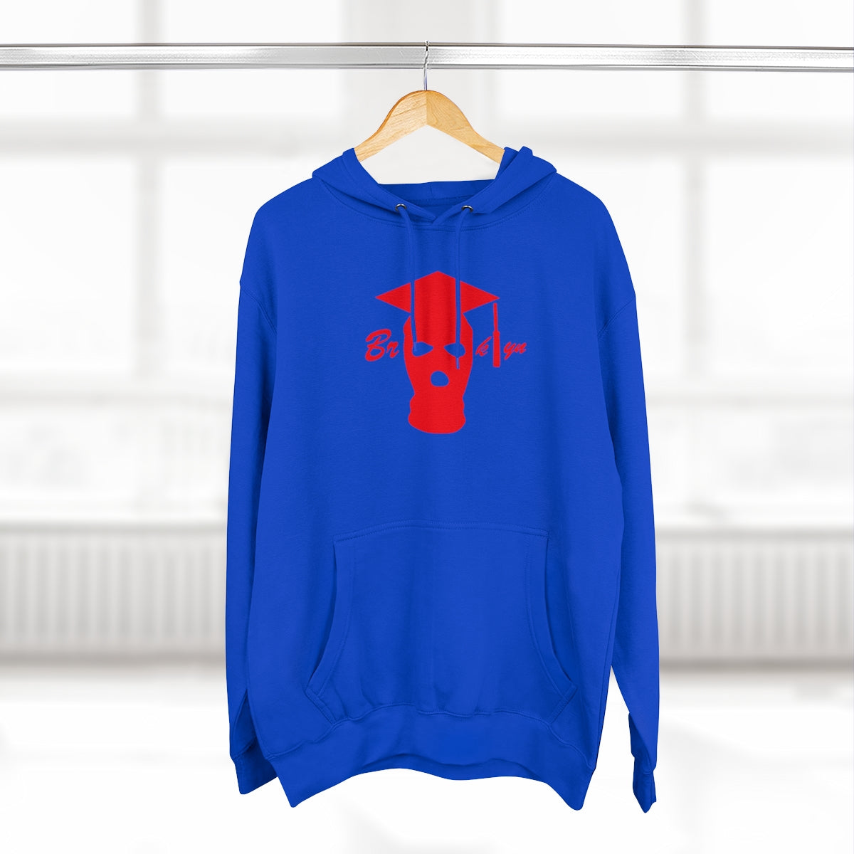 GRADUATION HOODY RED/BLUE