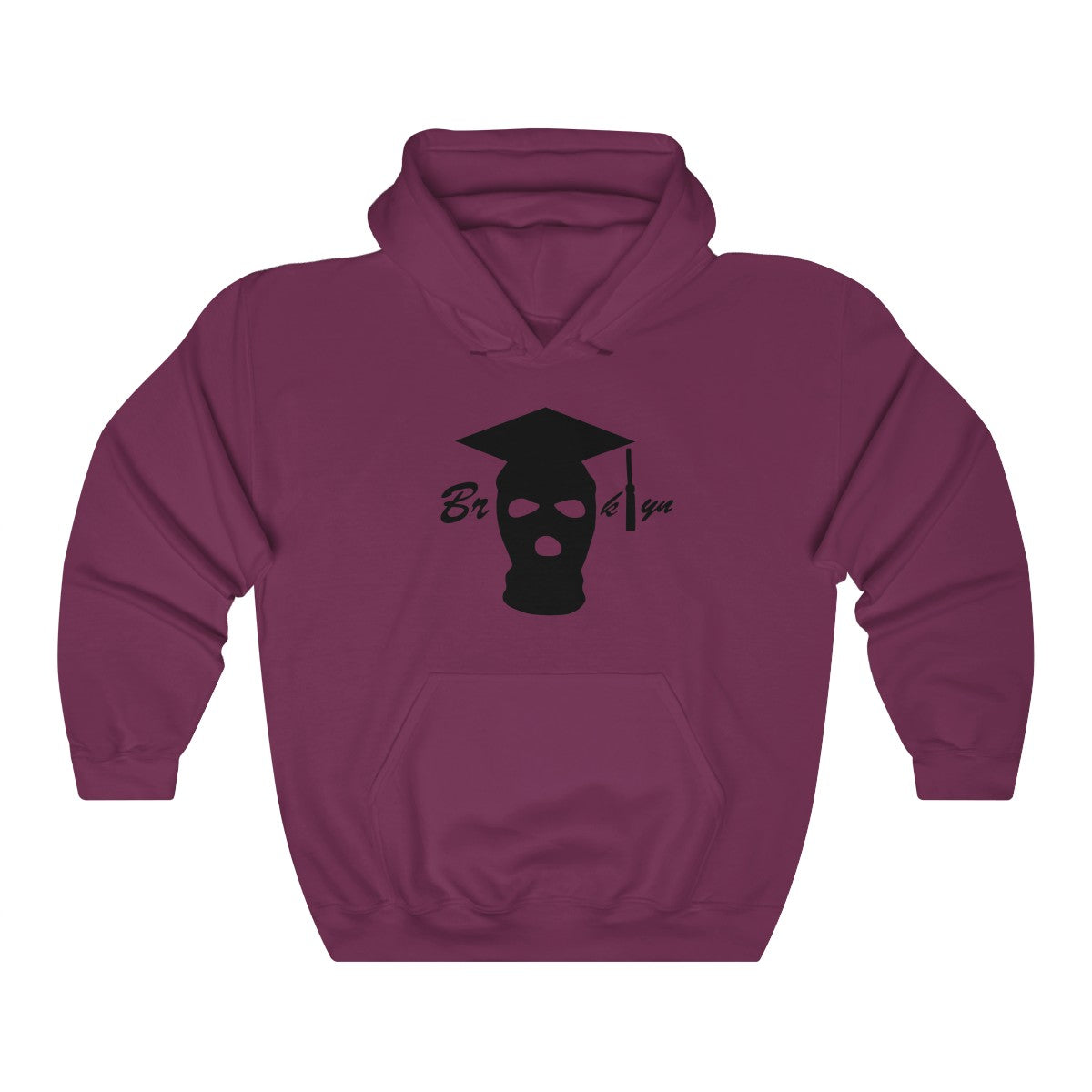 BLACK LOGO GRADUATION HOODIES
