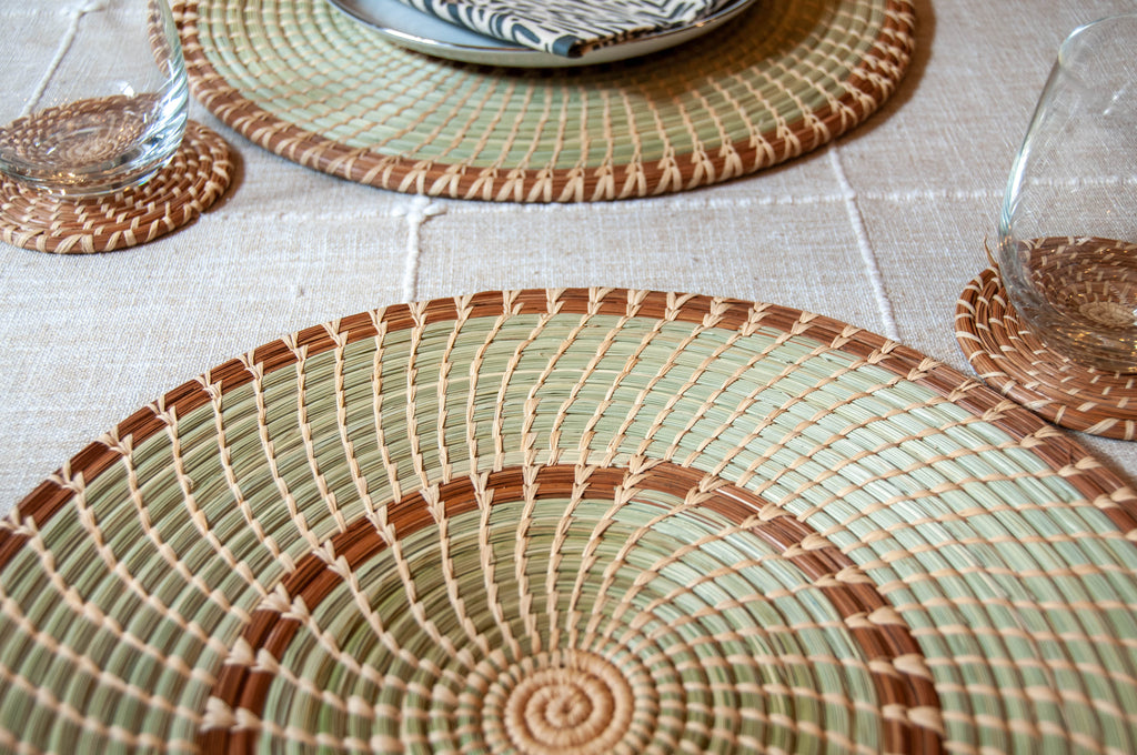 Handwoven Pine Placemats (set of 4)